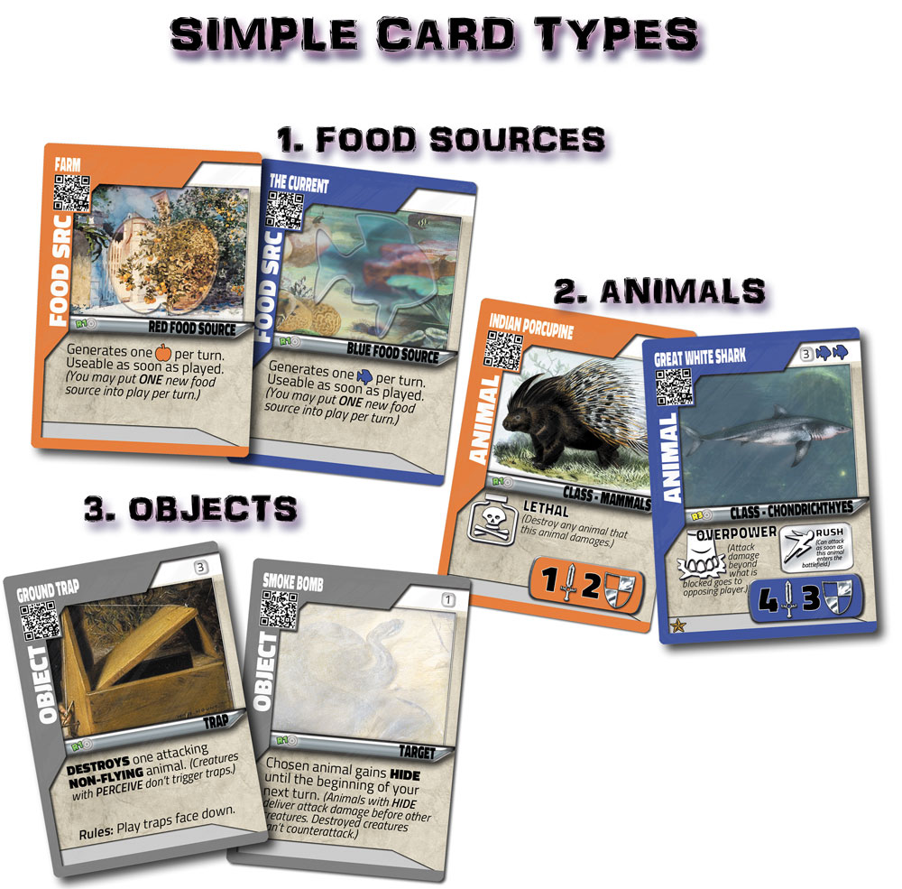 Streamlined card types eliminate bloat, while keeping the strategy options of far more complex games.
