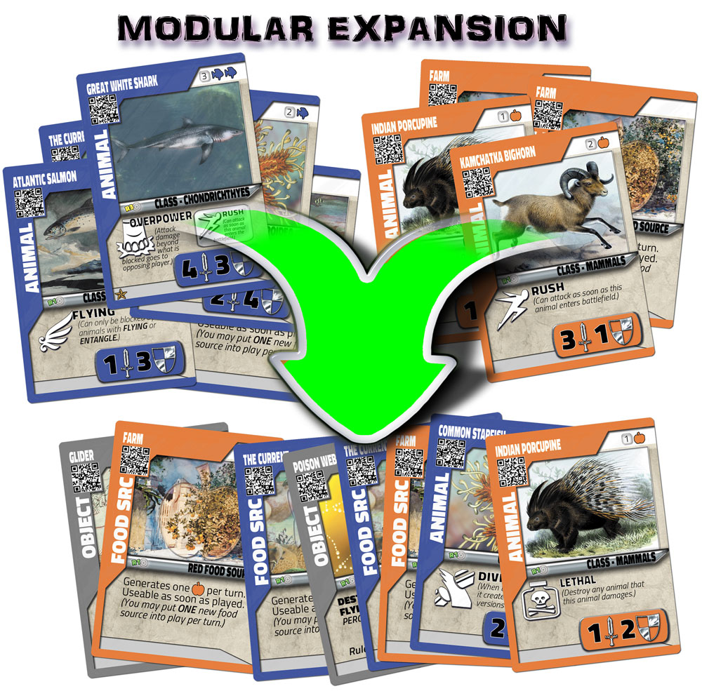 Combine kingdoms of animals to create super powerful combo decks that are unique to you as a player.