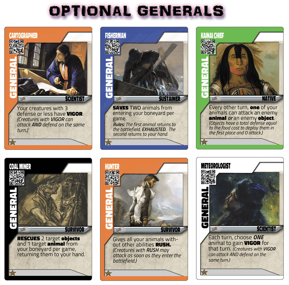 For more experienced players, the use of designated General cards help add a variety of new strategies and deck building possibilities.