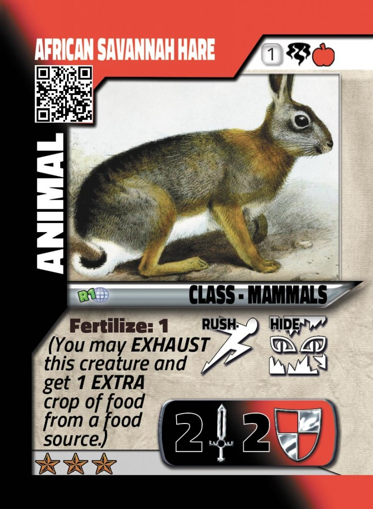 Attendees will receive ultra rare GenCon Cards to keep like this African Savannah Hare...